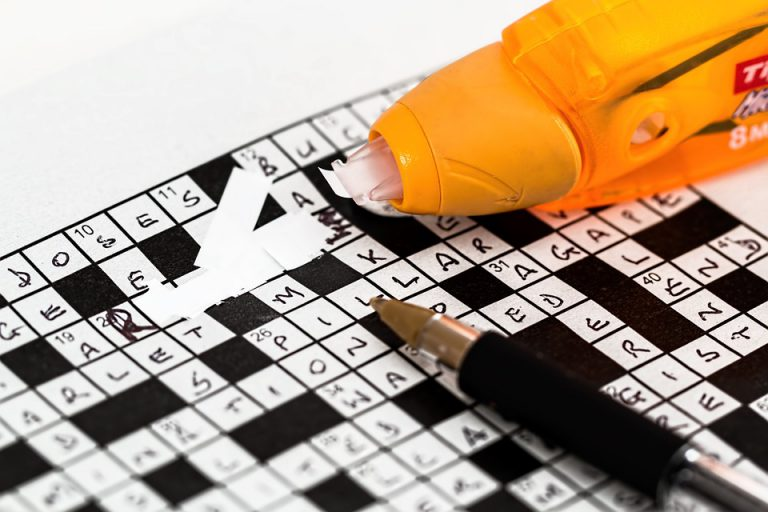 Crosswords US Crosswords pen and liquid correction laying on ground - Top Games to Exercise Your Brain