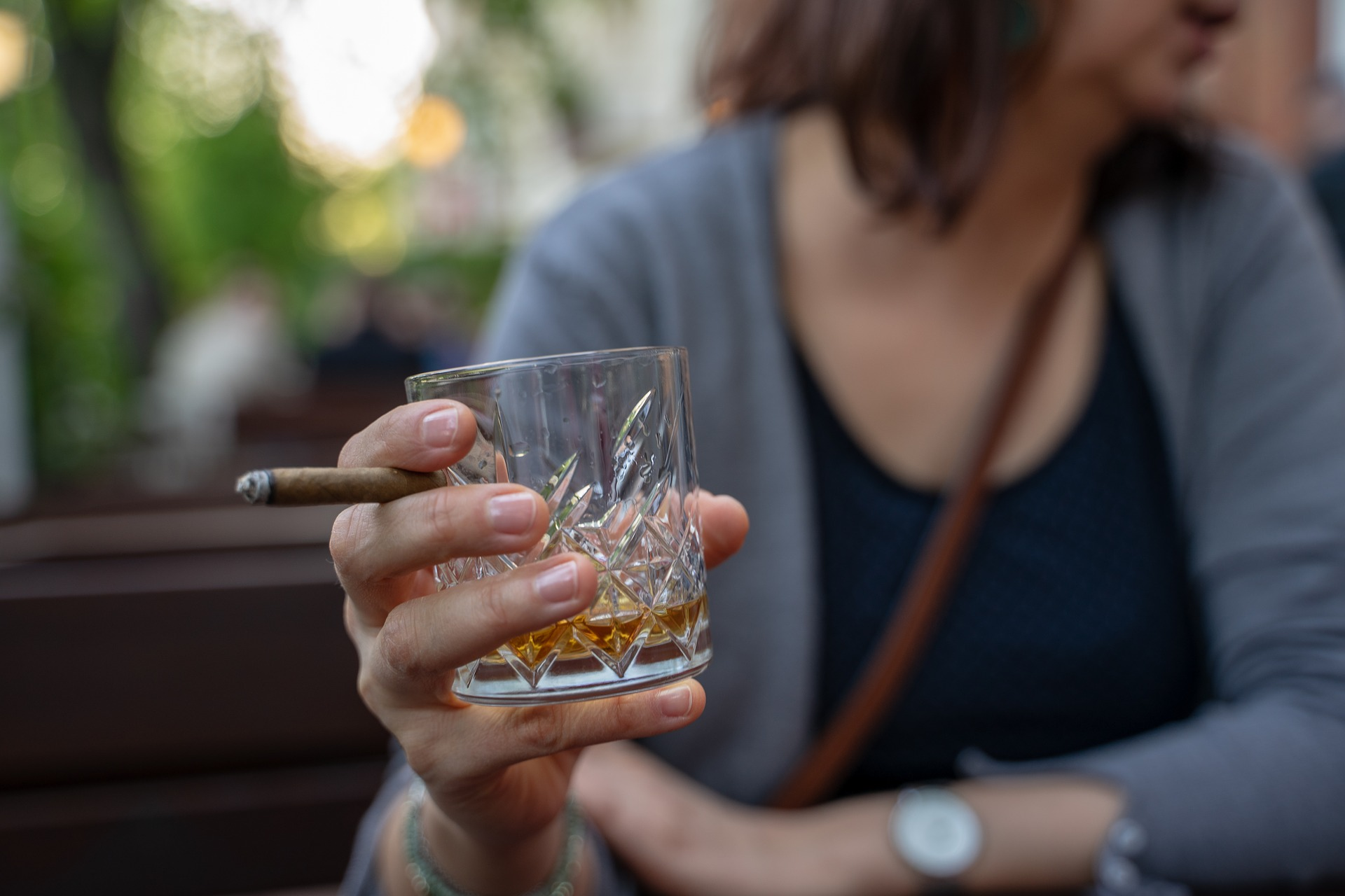 whiskey cigar - 4 Myths You Might Have About Addiction